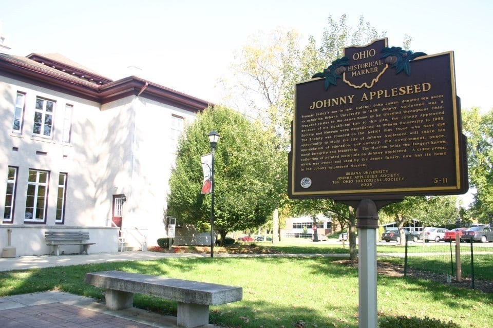 Learn about Johnny Appleseed in Urbana, Ohio