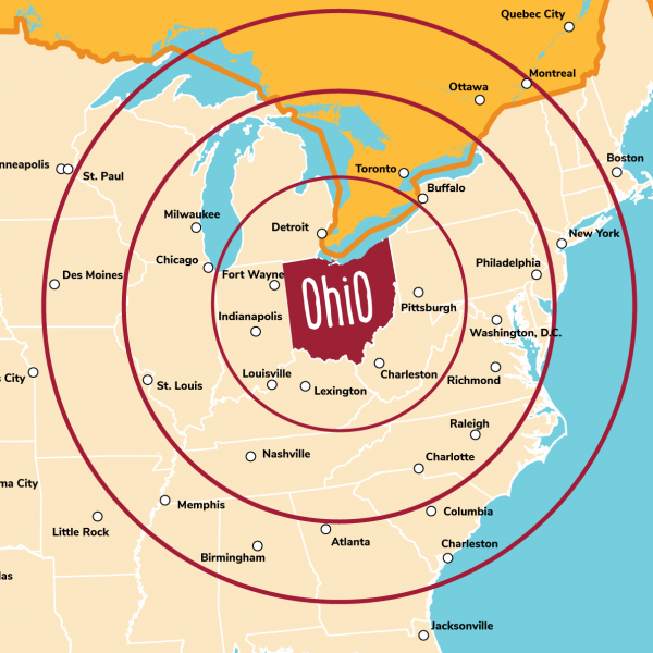 Driving Distances - Ohio. Find It Here.