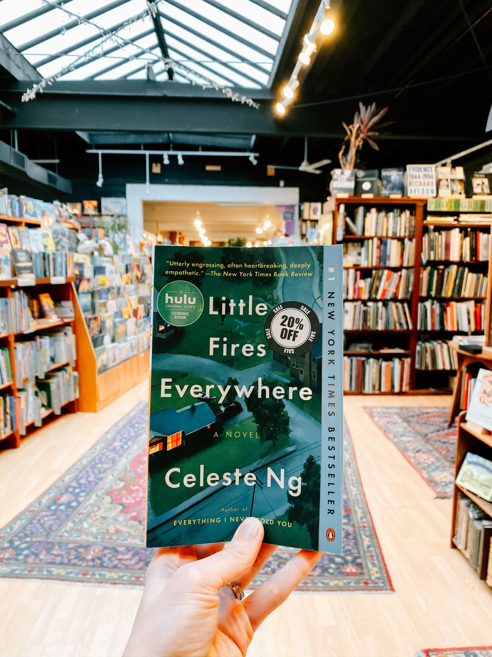 """Little Fires Everywhere"" by Celeste Ng at Loganberry Books in Shaker Heights, OH"