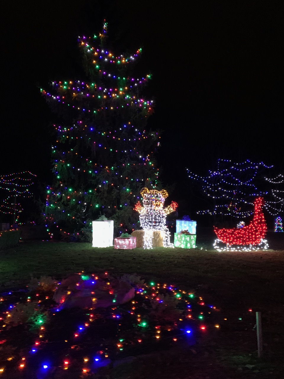 holiday lights journey borealis hamilton ohio