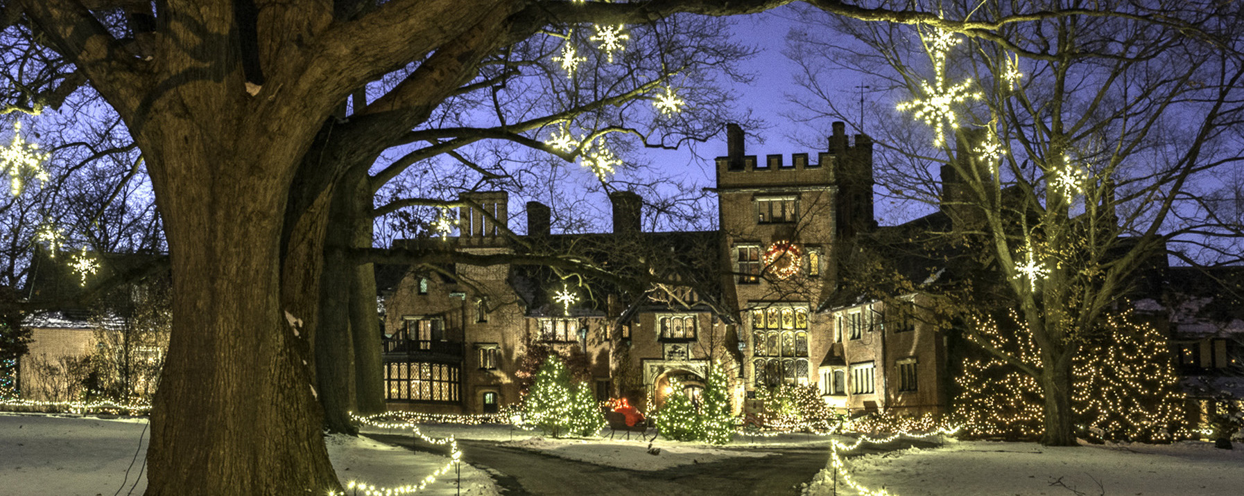 Holiday decorations Stan Hywet Hall & Gardens Akron Ohio
